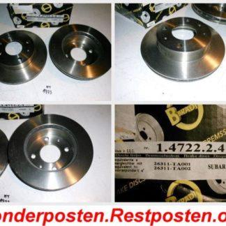 Bremsscheiben METZGER BRADI 1.4722.2.4 SUBARU 26311-TA001 26311-TA002 NT1773