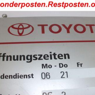 Schild Öffnungszeiten von TOYOTA | GS139