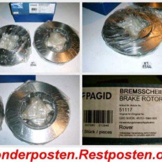 Bremsscheiben PAGID 51117 ROVER NT1912