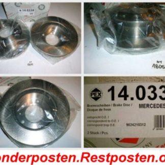Bremsscheiben PEX 14.0334 140334 MERCEDES NT1805