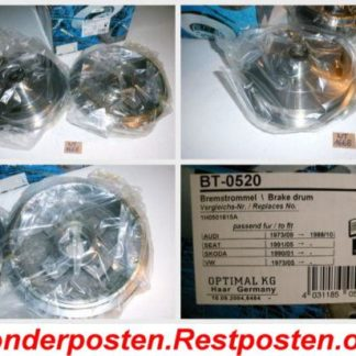 Bremstrommel Optimal BT0520 AUDI NT1668