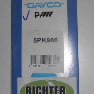 Keilrippenriemen Dayco 5PK986 | NT278