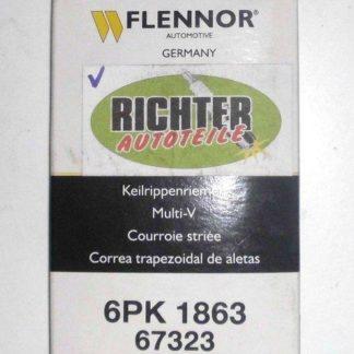 Keilrippenriemen Flennor 67323 6PK1863 | NT339