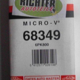 Keilrippenriemen Gates 68349 6PK800 | NT295