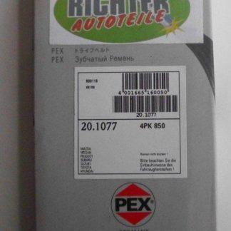 Keilrippenriemen PEX 201077 4PK850 | NT247