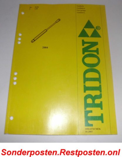 Tridon Triscan Gasfederkatalog Ersatzteilkatalog Gasfeder 2004 GS1360
